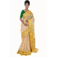 Tussar Silk Yellow