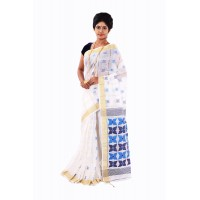 Silk Self Woven Saree White