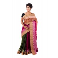 Masslight Saree With Red Pallu
