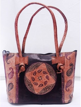 Leather Bag from Shantiniketan
